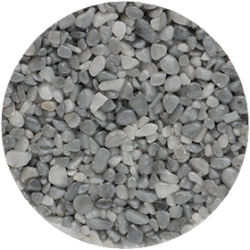granulat gris-clair pour terrasse en résine